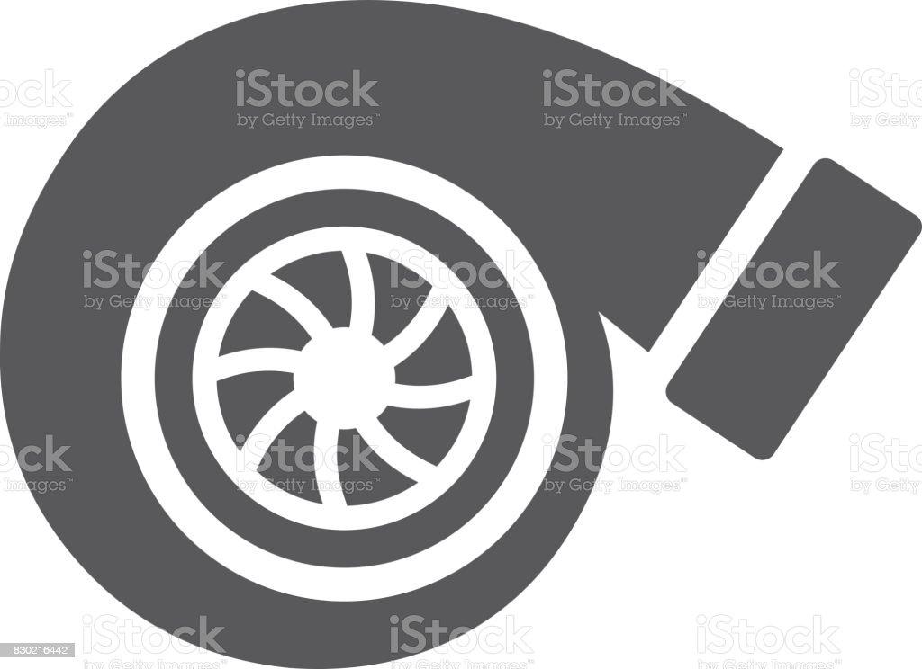 BW-Icons - Turbolader – Vektorgrafik