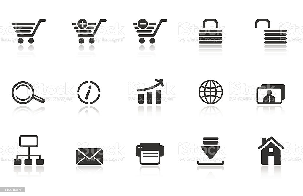 WWW icons royalty-free stock vector art