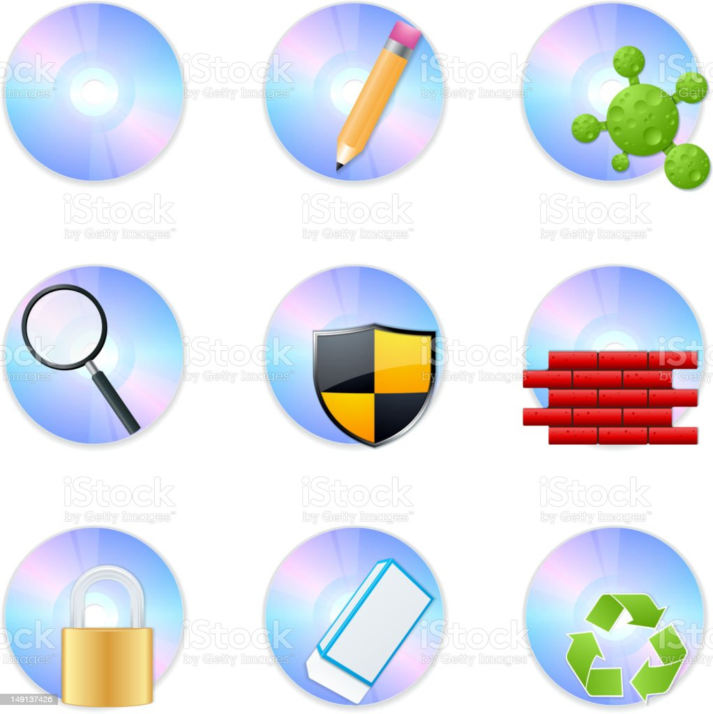 CD Icons royalty-free stock vector art