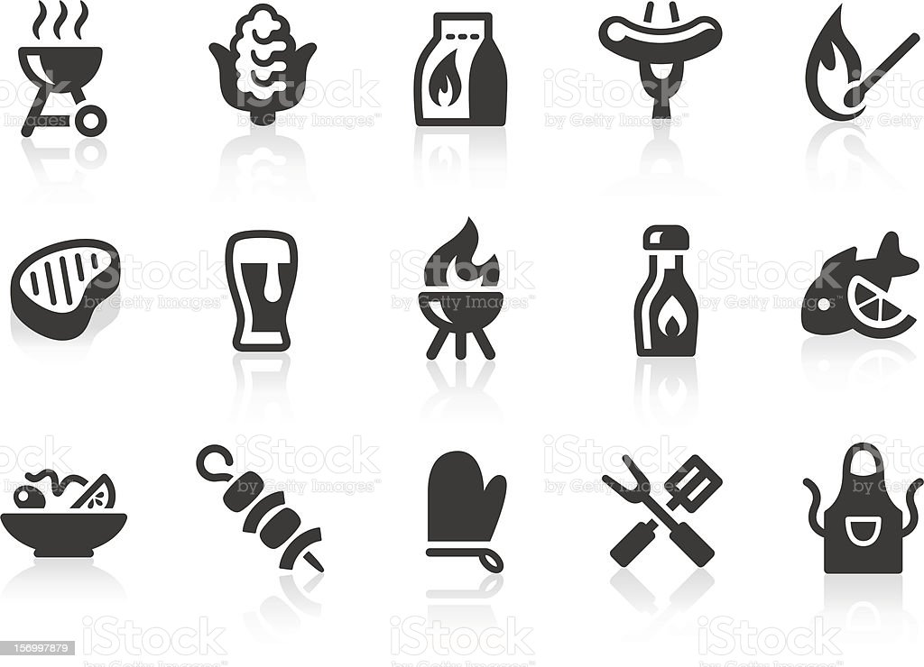 BBQ icons vector art illustration