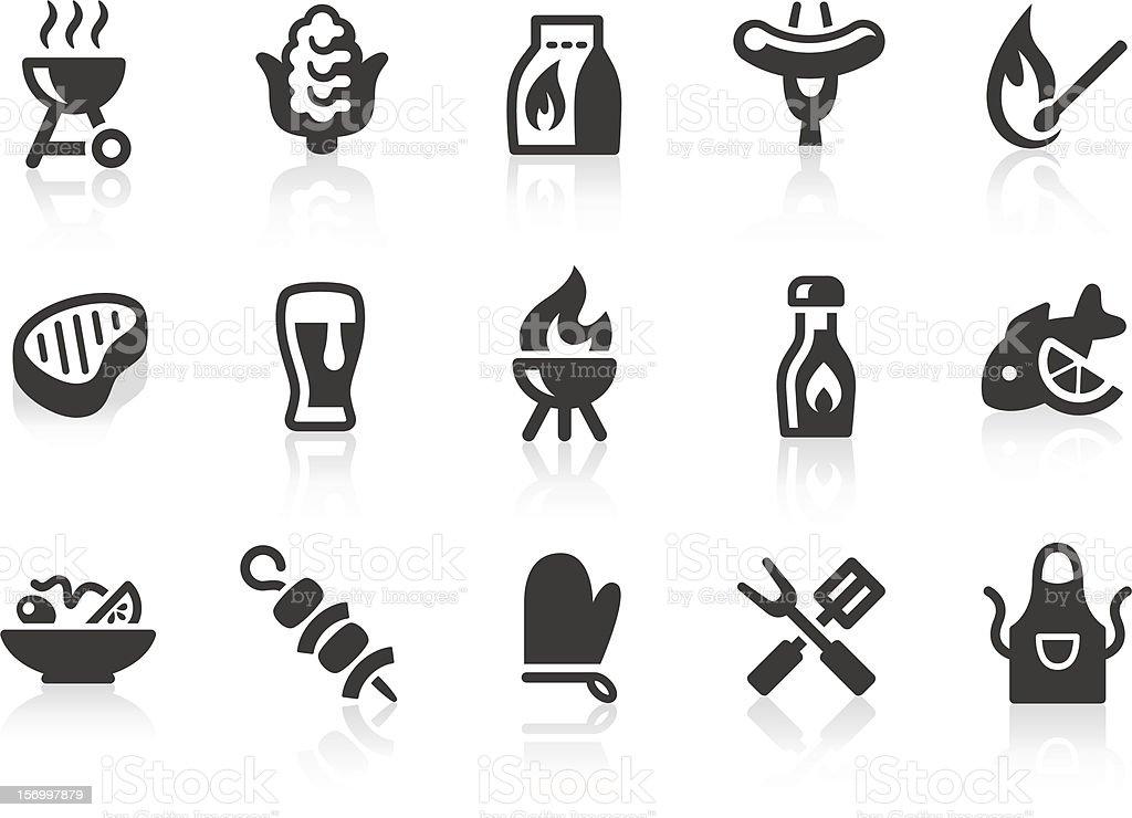 Ícones de churrasco - ilustração de arte em vetor