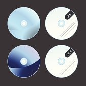 CD-R & DVD-R Icons formatted to suit your high-tech needs!