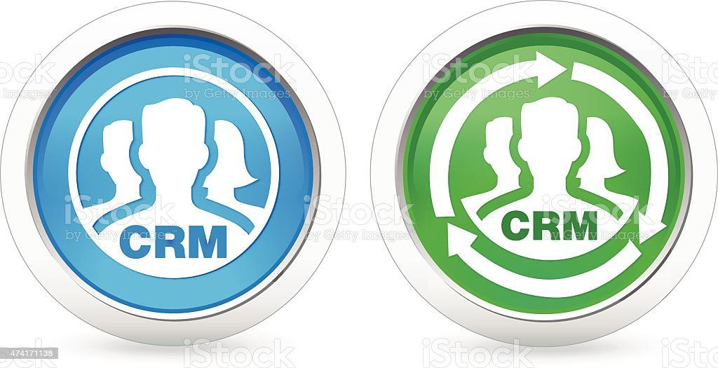 Crm Icons Stock Vector Art More Images Of 2015 474171138 Istock