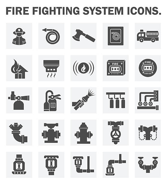 Fire Sprinkler Illustrations, Royalty-Free Vector Graphics