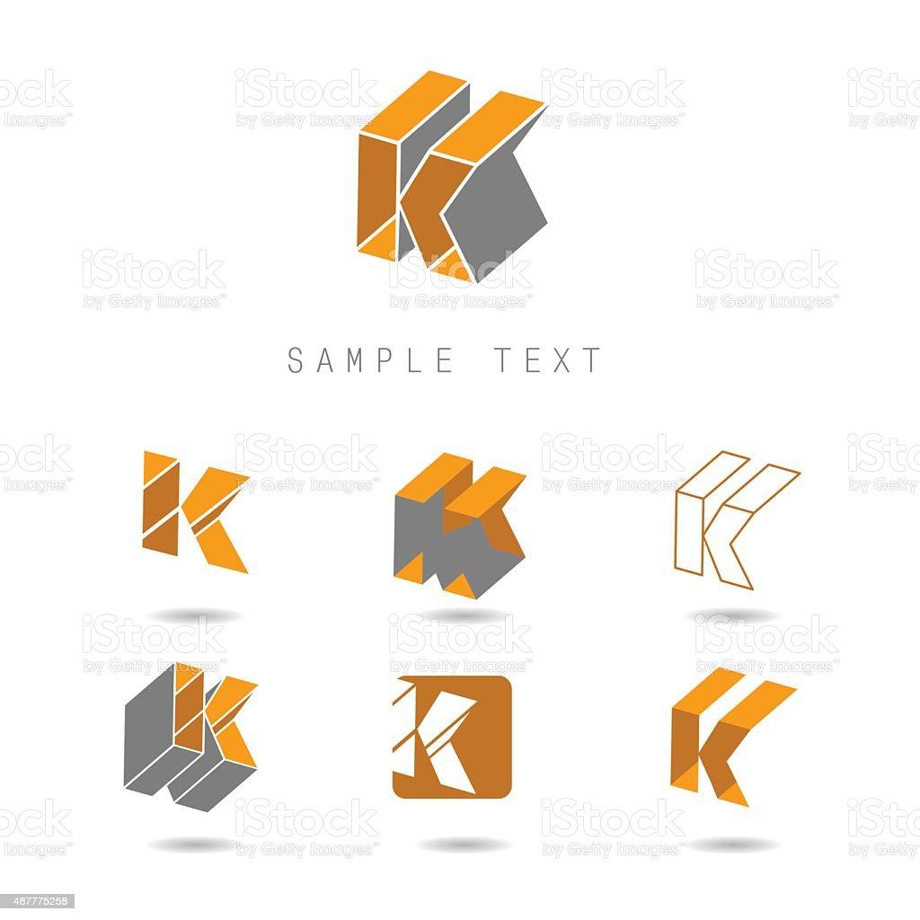 K icons vector art illustration