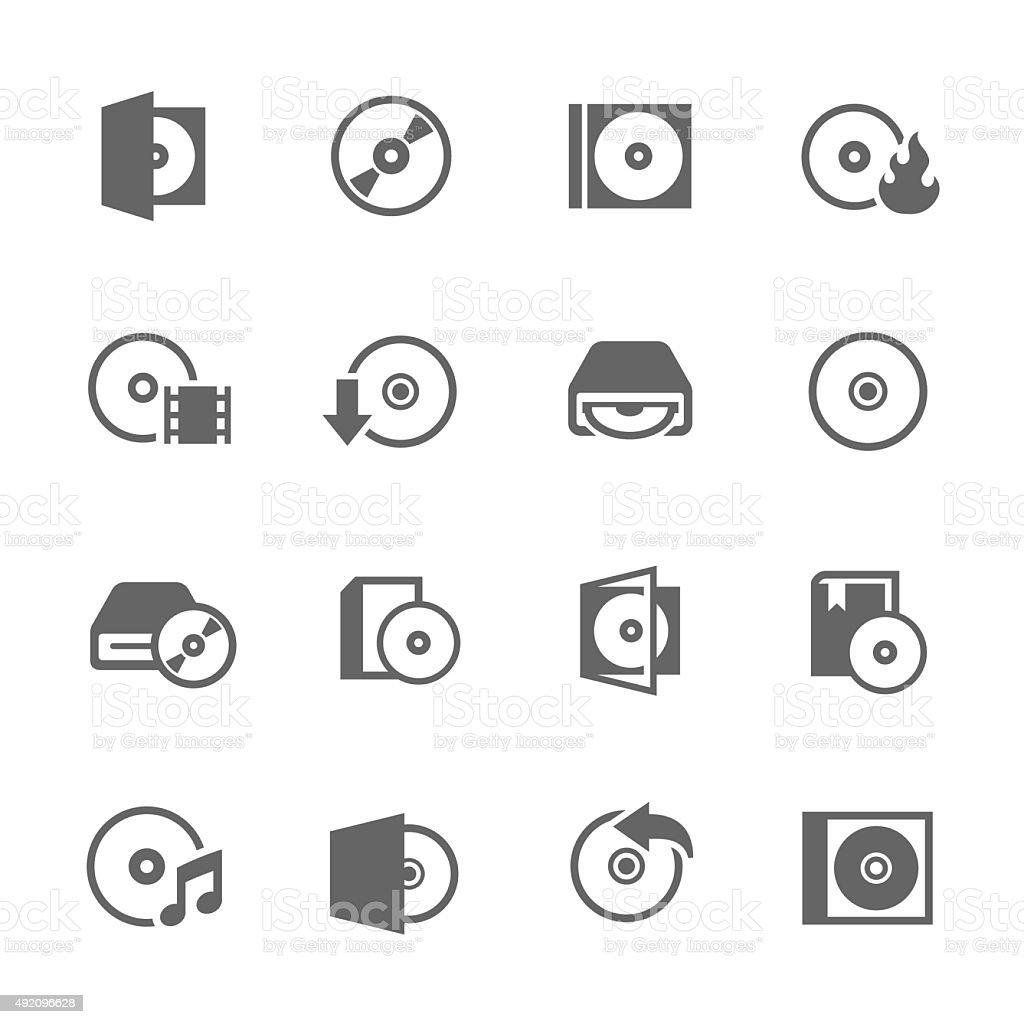 CD Icons vector art illustration