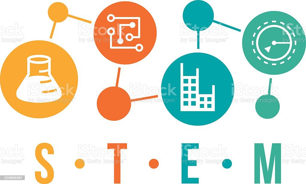 STEM Icons vector art illustration