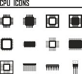 CPU icons. vector illustration eps 10.