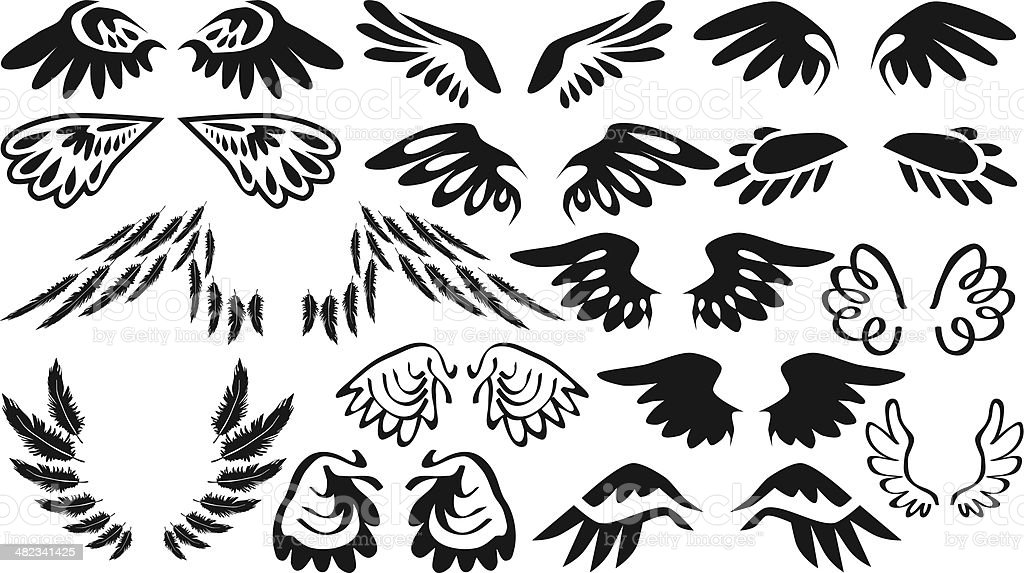 icons wings royalty-free stock vector art