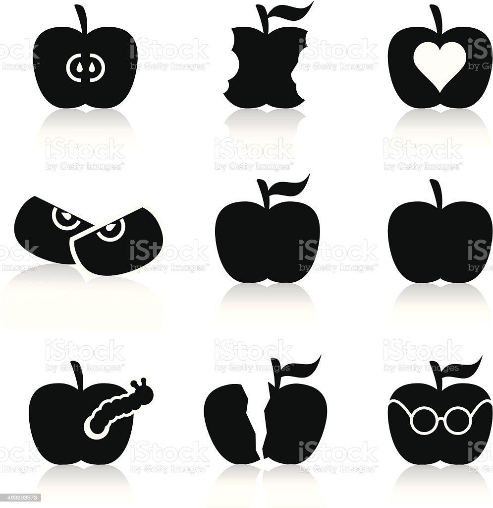 icons_apple vector art illustration