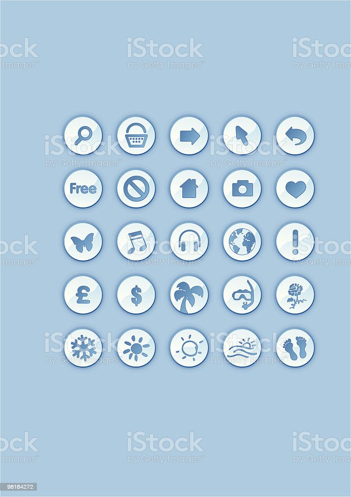 icons/buttons - illustration royalty-free iconsbuttons illustration stock vector art & more images of arrow symbol