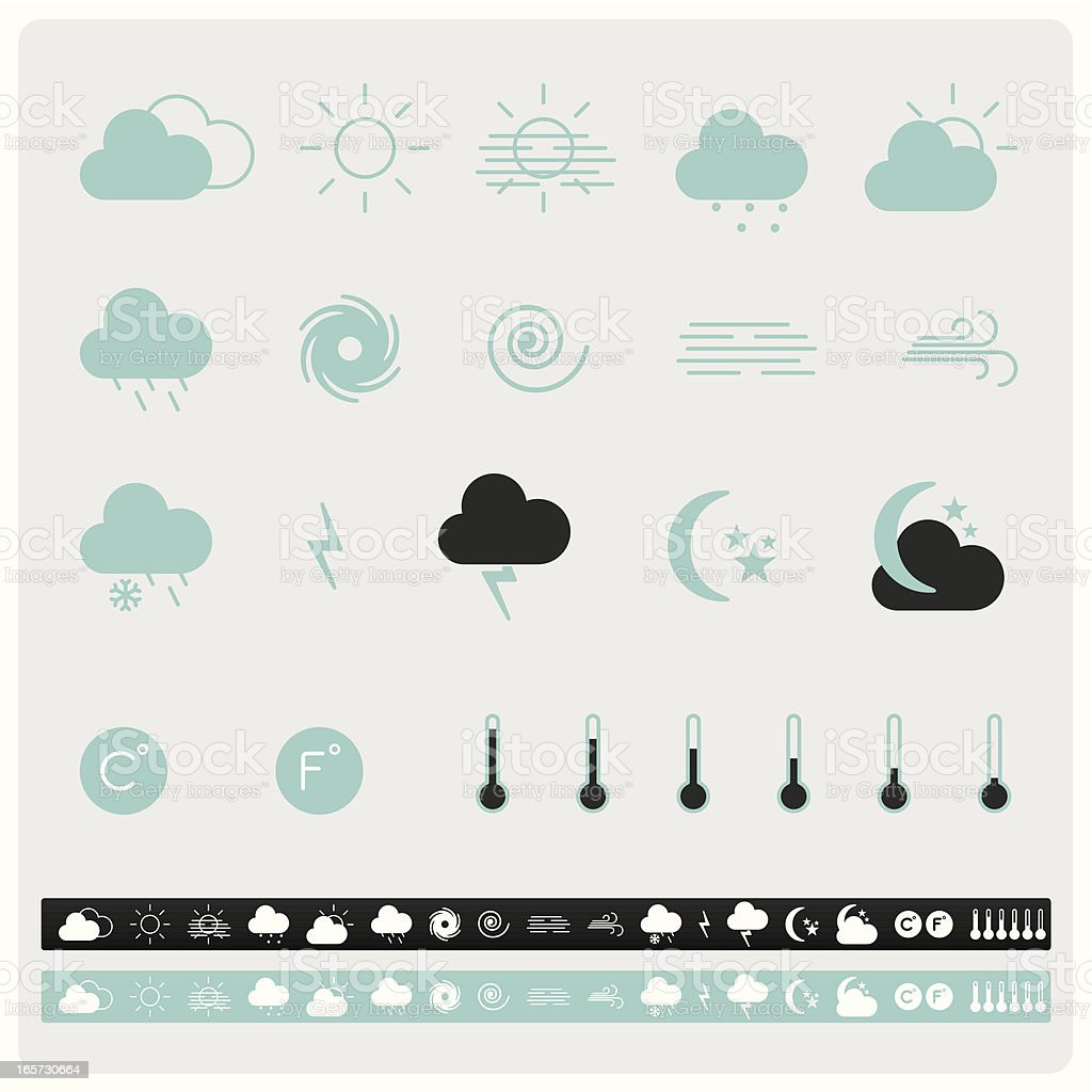 Iconset weather icons royalty-free stock vector art
