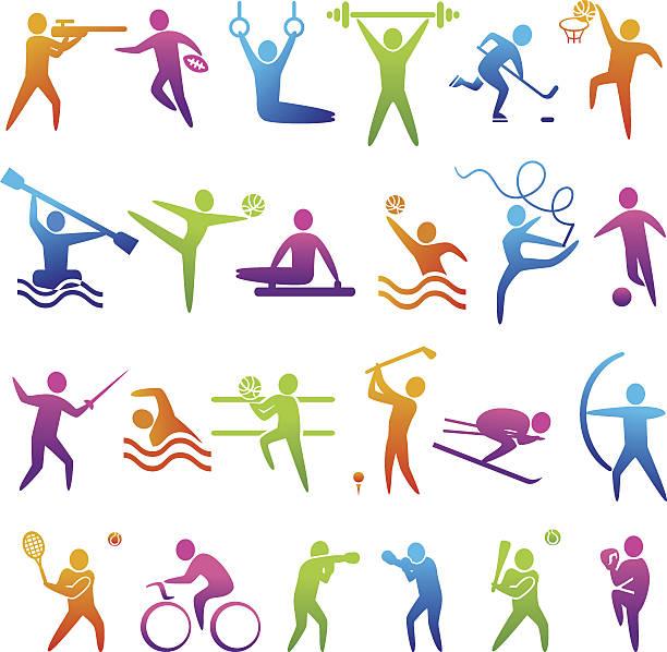 iconssport - skirennen stock-grafiken, -clipart, -cartoons und -symbole
