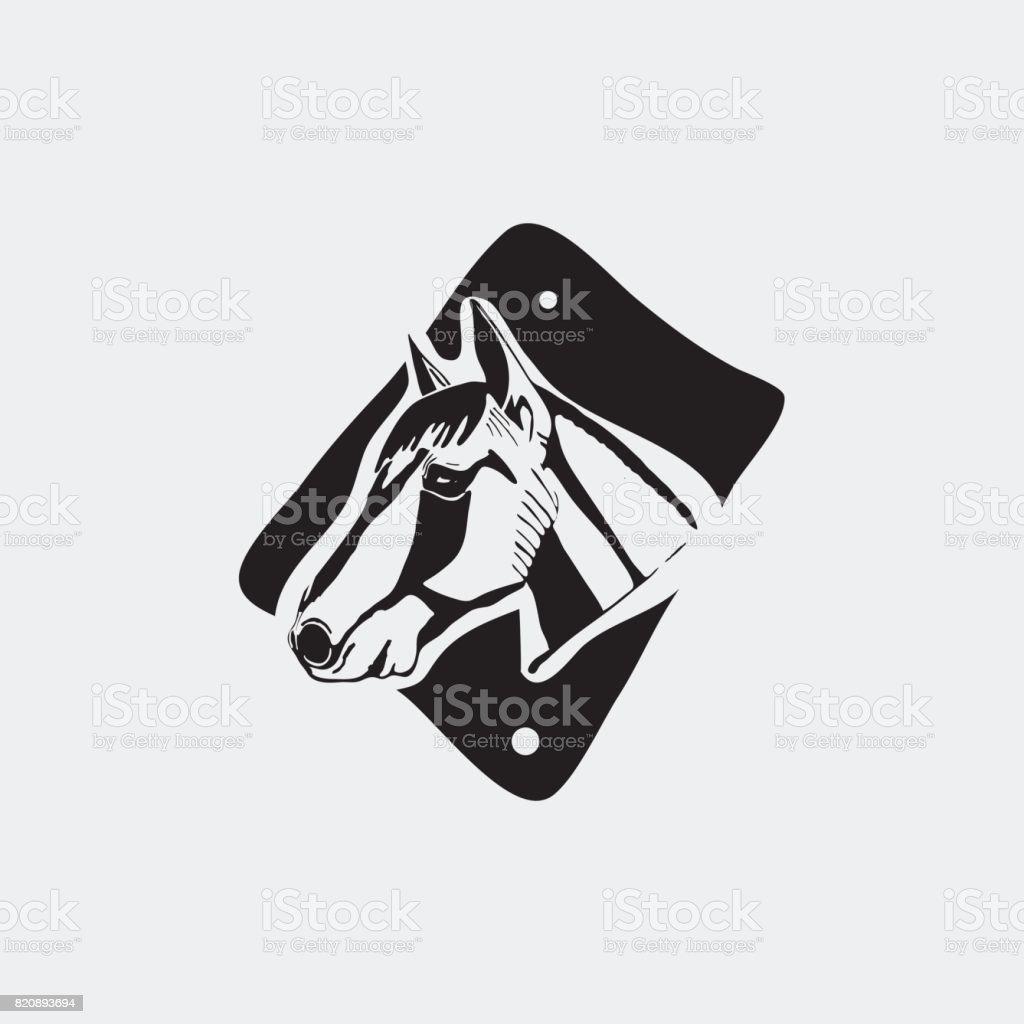 Icontype Wahrzeichen Zeichen Symbol Insignien Der Pferdekopf Schablone Linolschnitt Stock Vektor Art Und Mehr Bilder Von Abzeichen Istock