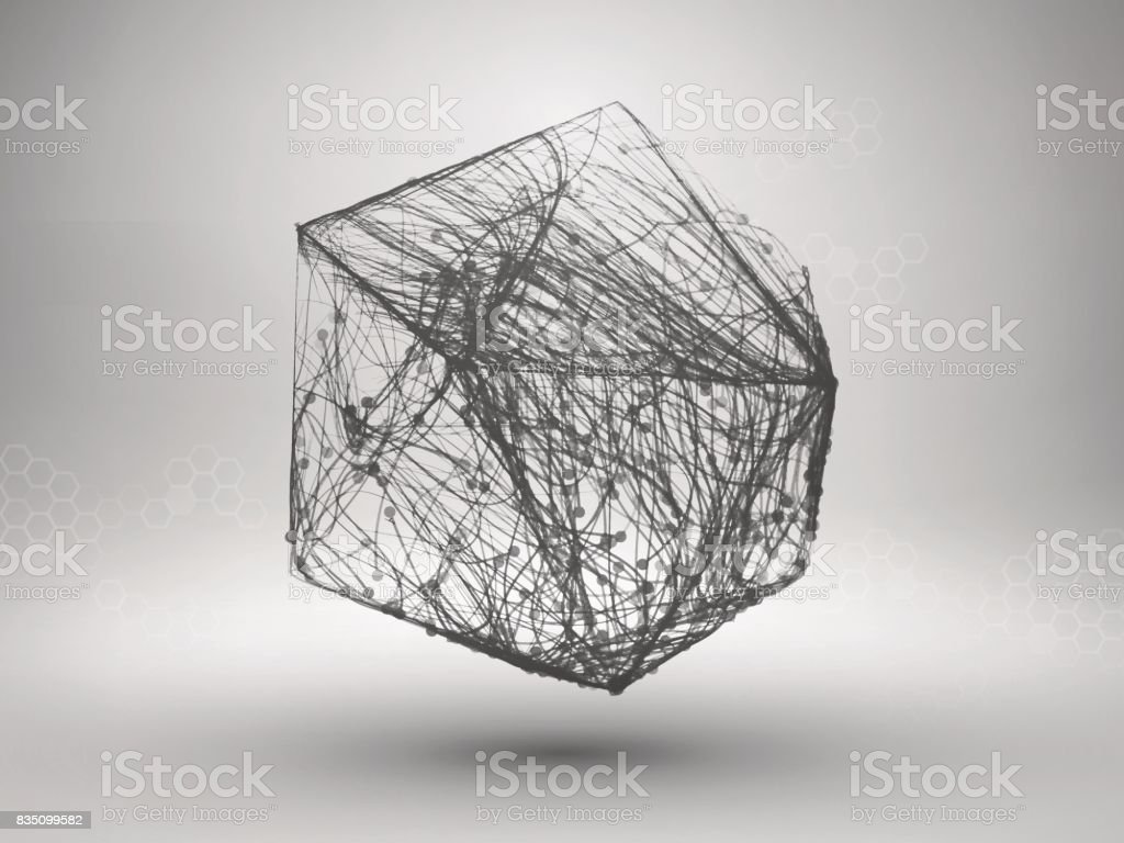 Drawing With Lines And Dots : Icosahedron with connected lines and dots wireframe poligonal mesh