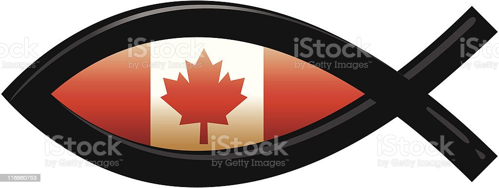 Icthys of Canada royalty-free stock vector art