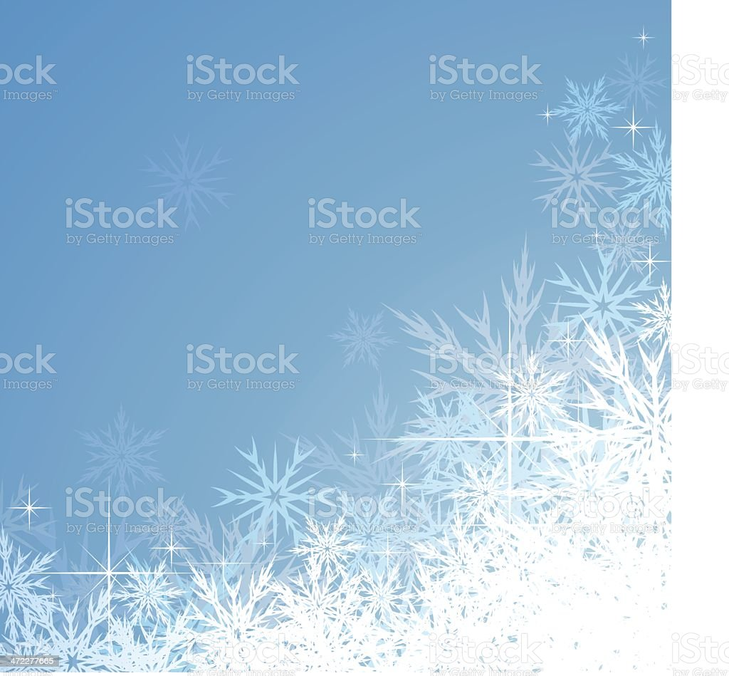 Icy Snowflake Christmas Background vector art illustration