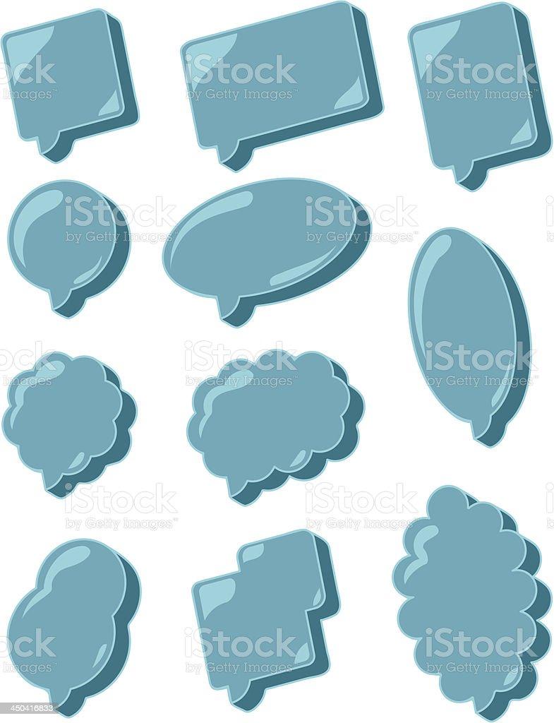 Icy Speech Balloons royalty-free stock vector art