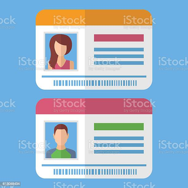 Id cards template with man and woman photo vector id613048434?b=1&k=6&m=613048434&s=612x612&h=snzv8zpcuelpp8l26lzg1n3i 7hcgdeycavd0w3w7gc=