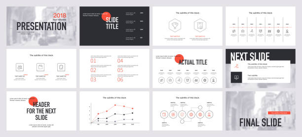 id48 [преобразованный] Presentation template design. Vector infographics. Use in Presentation flyer and leaflet corporate report marketing advertising annual report banner. Multipurpose template for presentation slide. awards ceremony stock illustrations