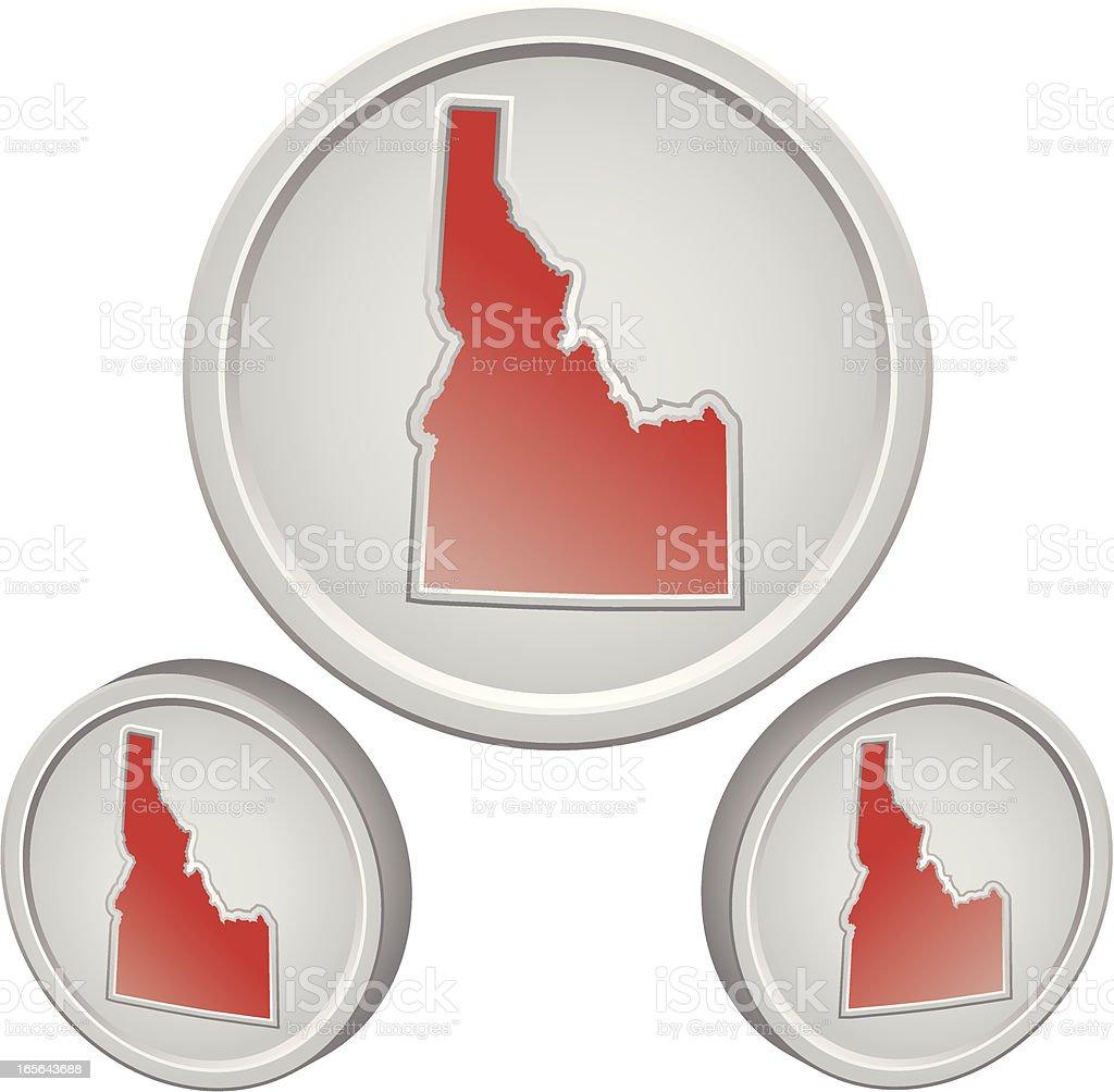 Idaho Button royalty-free stock vector art