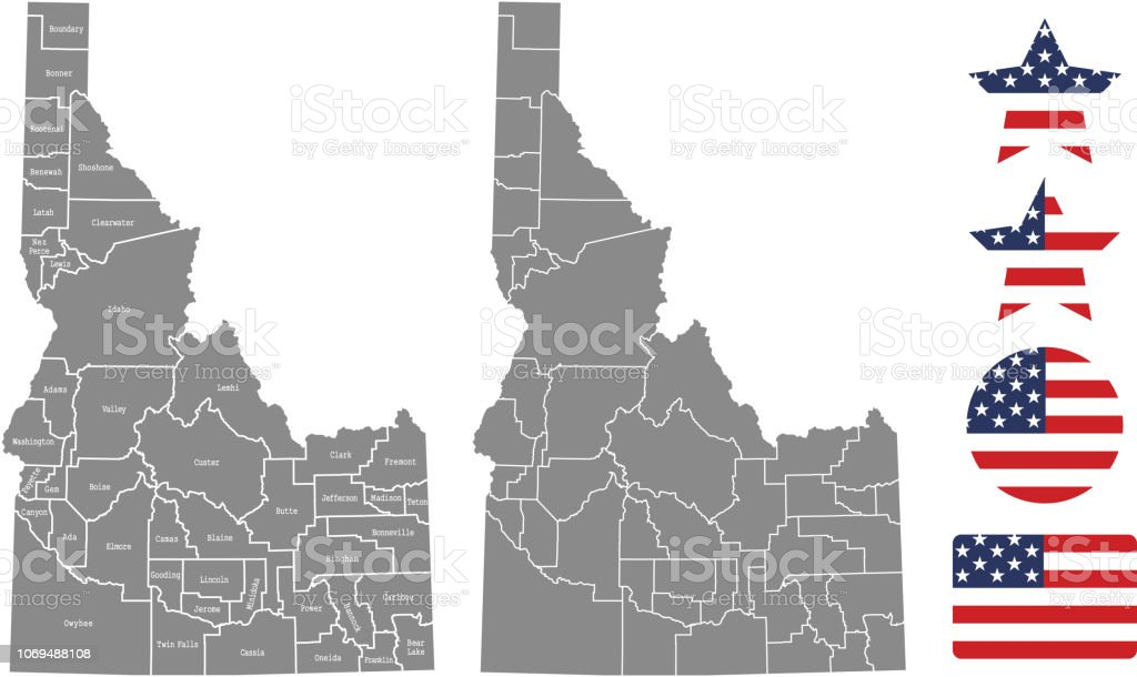 Idaho County Map Vector Outline In Gray Background Idaho ... on oklahoma county map, tn county map, washington county map, clark county map, franklin county map, south dakota county map, kentucky county map, florida county map, idaho rivers, north dakota county map, wyoming county map, caribou county map, idaho scenery, nevada county map, butte county map, texas county map, adams county map, minnesota county map, kootenai county map, montana county map,