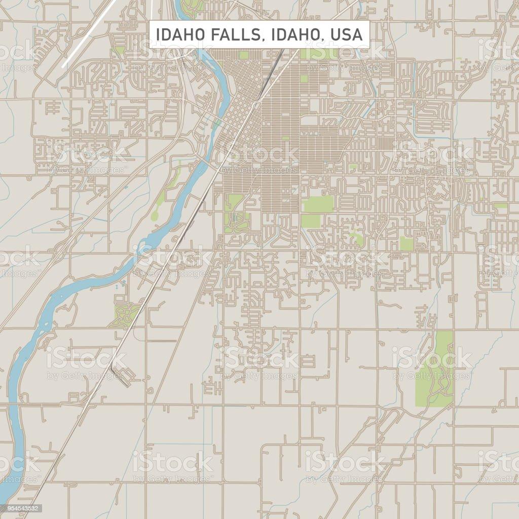 idaho falls city map Idaho Falls Idaho Us City Street Map Stock Illustration Download idaho falls city map