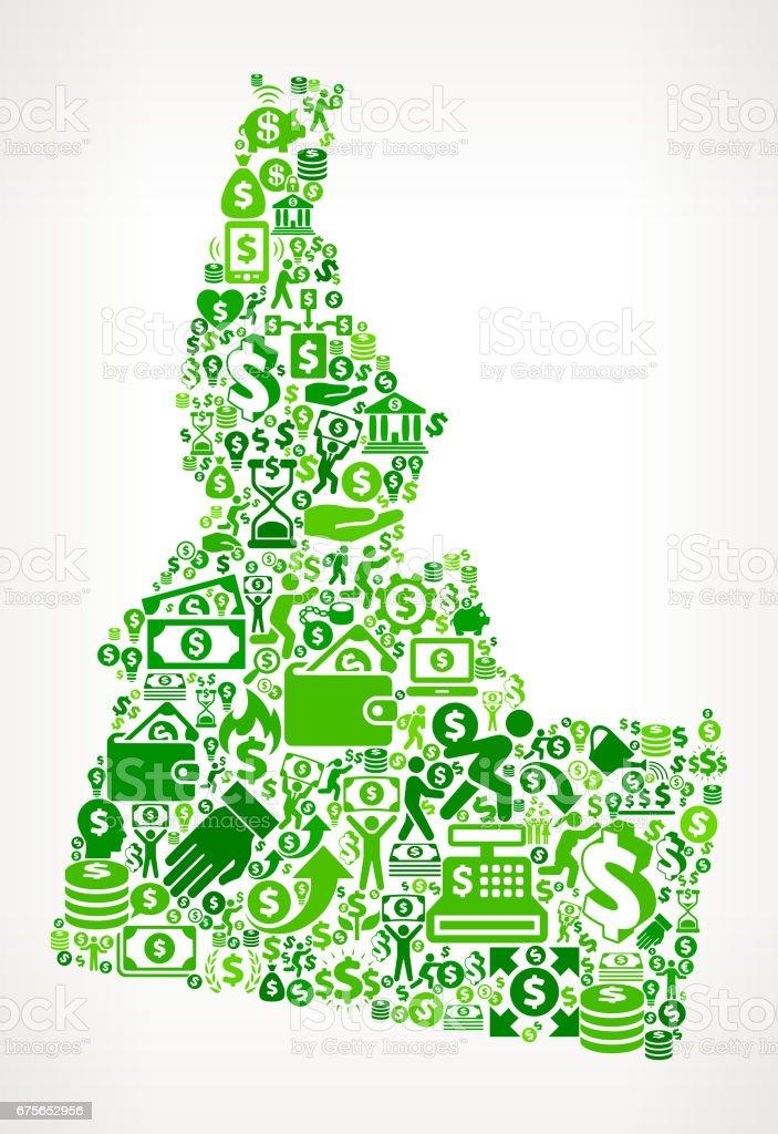 Idaho Money and Finance Green Vector Icon Background royalty-free idaho money and finance green vector icon background stock vector art & more images of abundance