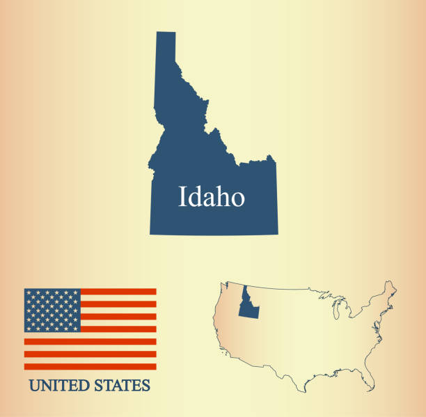 Royalty Free Abstract Outline Of Idaho Map