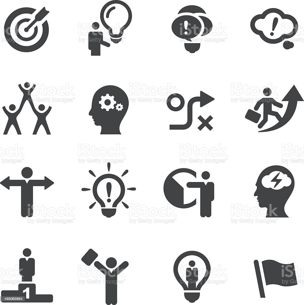 Idea and Creativity Icons - Acme Series vector art illustration