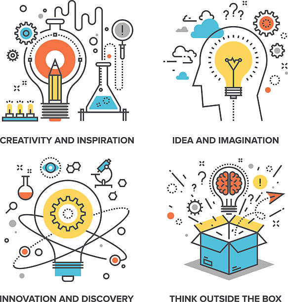 idea and imagination - science class stock illustrations, clip art, cartoons, & icons
