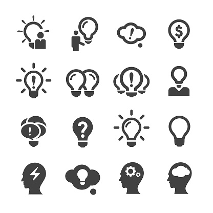 Idea and Inspiration Icons - Acme Series clipart