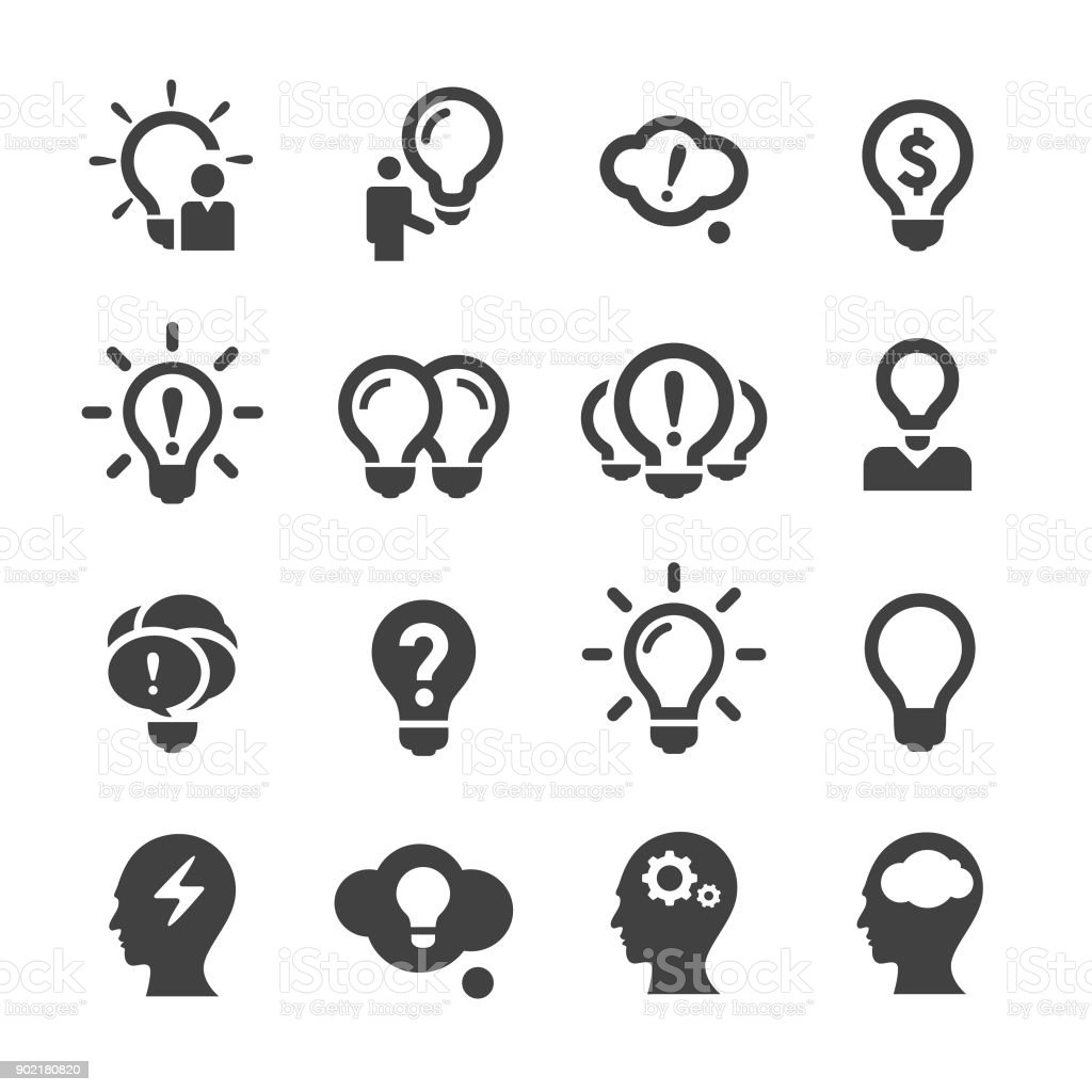 Idea and Inspiration Icons - Acme Series vector art illustration