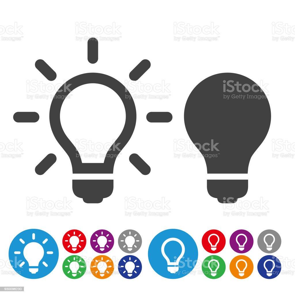 Idea e inspiración iconos - serie icono gráfico - ilustración de arte vectorial