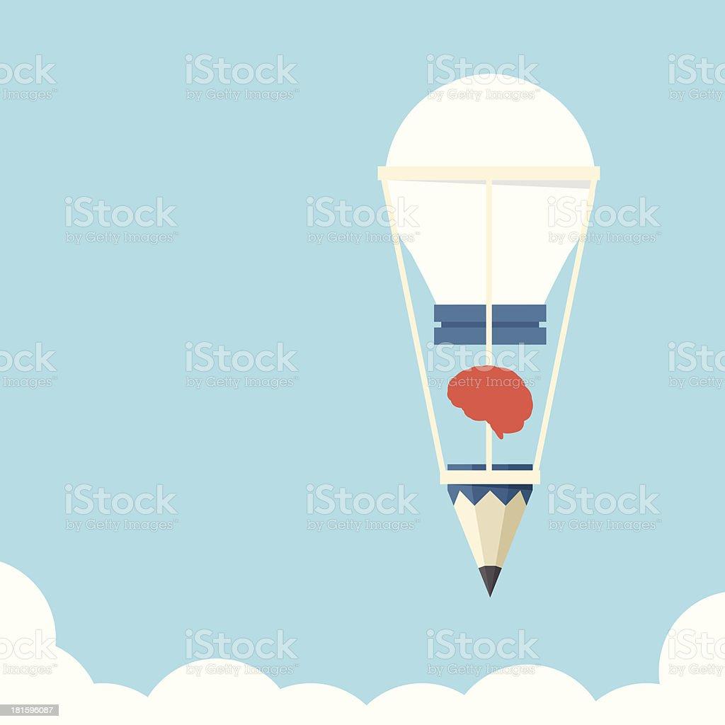 Idea bulb balloon royalty-free stock vector art