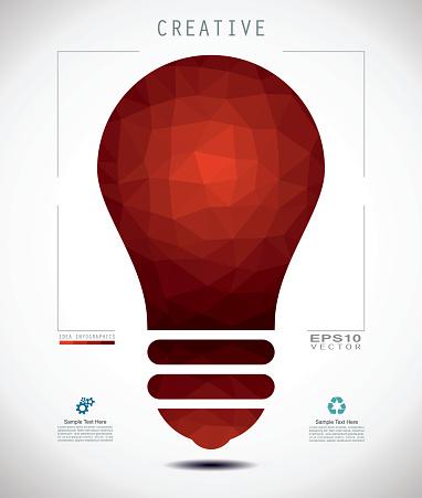 Idea Bulb Mosaic Style