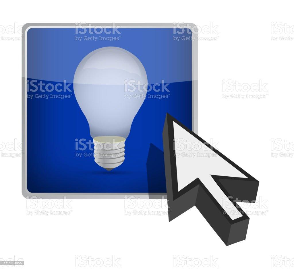 vector square blue icon lighting bulb. Idea Bulb Icon Blue Square Button Clip Art, Vector Images \u0026 Illustrations Lighting E