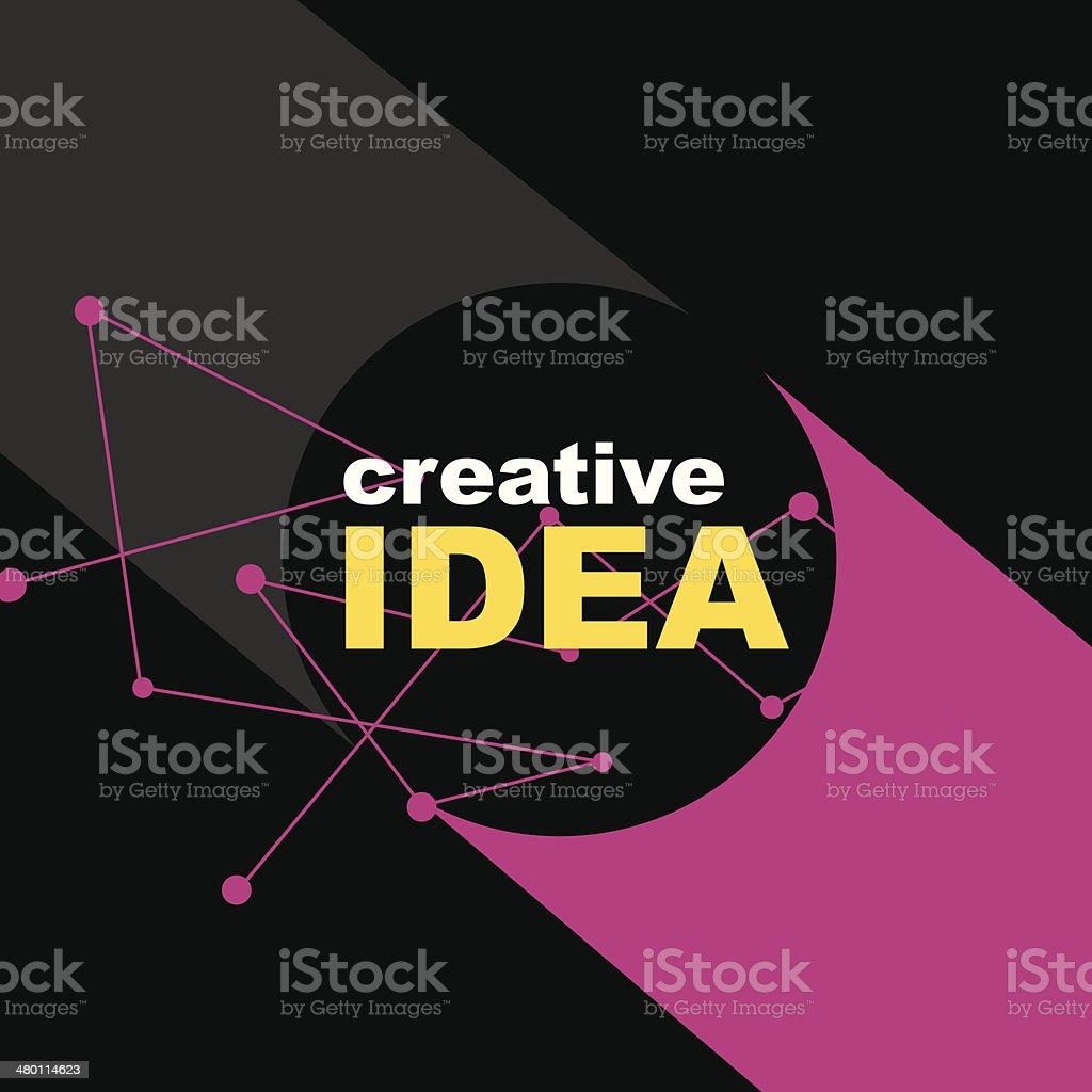 クリエイティブなアイディアコンセプトの背景 のイラスト素材
