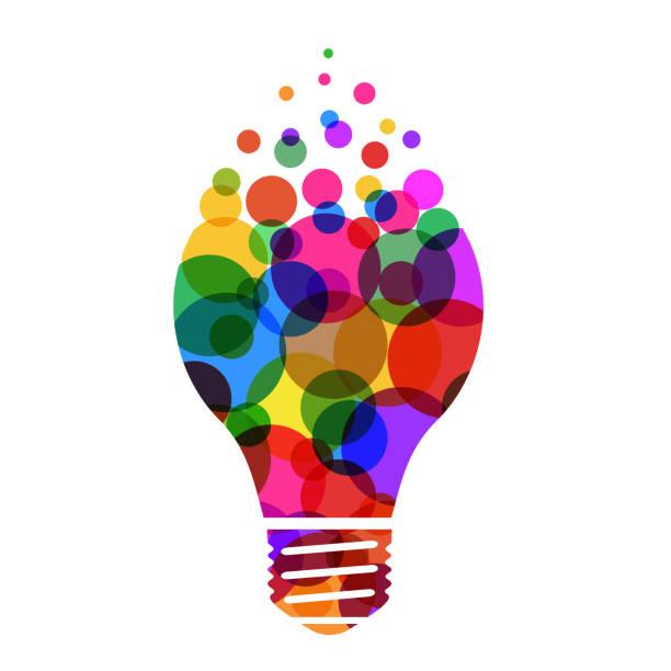 bildbanksillustrationer, clip art samt tecknat material och ikoner med idé koncept, creative glödlampa sign, innovationer. håll det enkelt affärsidé för projektledning, marknadsföring, kreativitet-vektor - idé