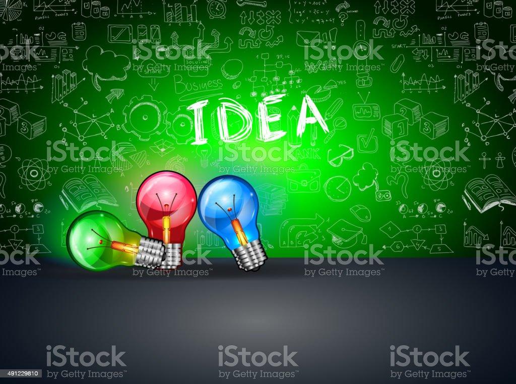Layout idee konzept für brainstorming und infografik stock vektor