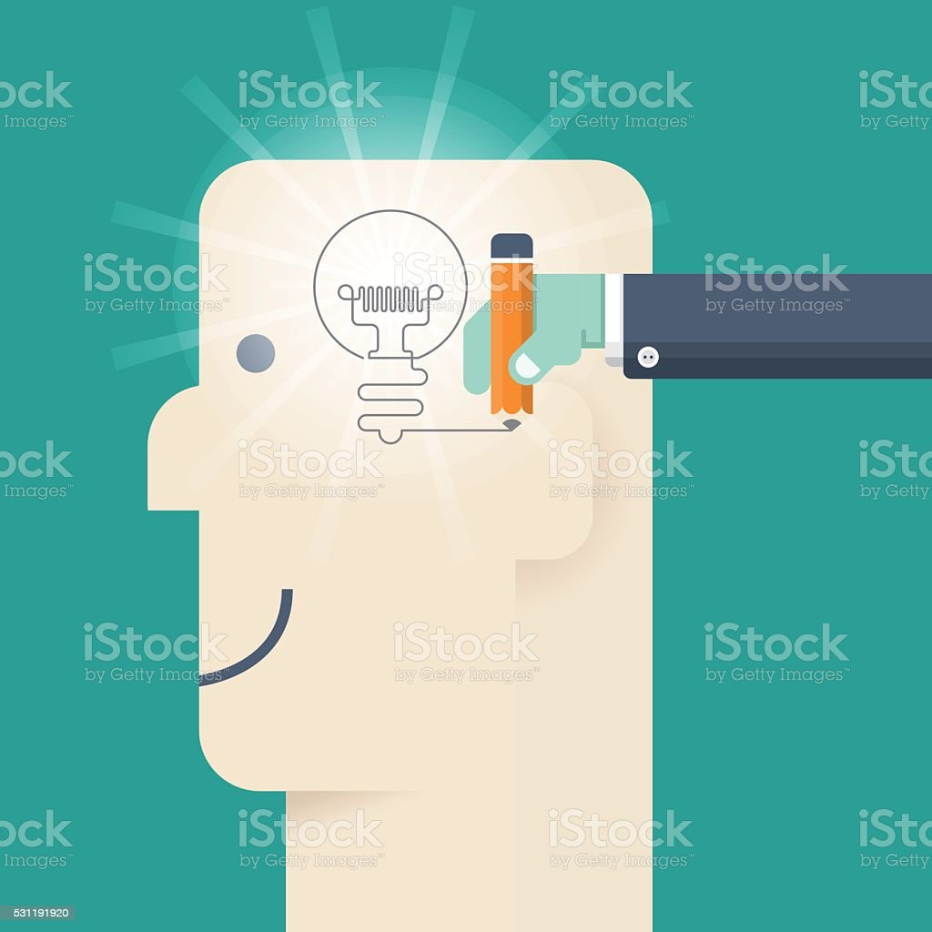 Idea concept vector art illustration