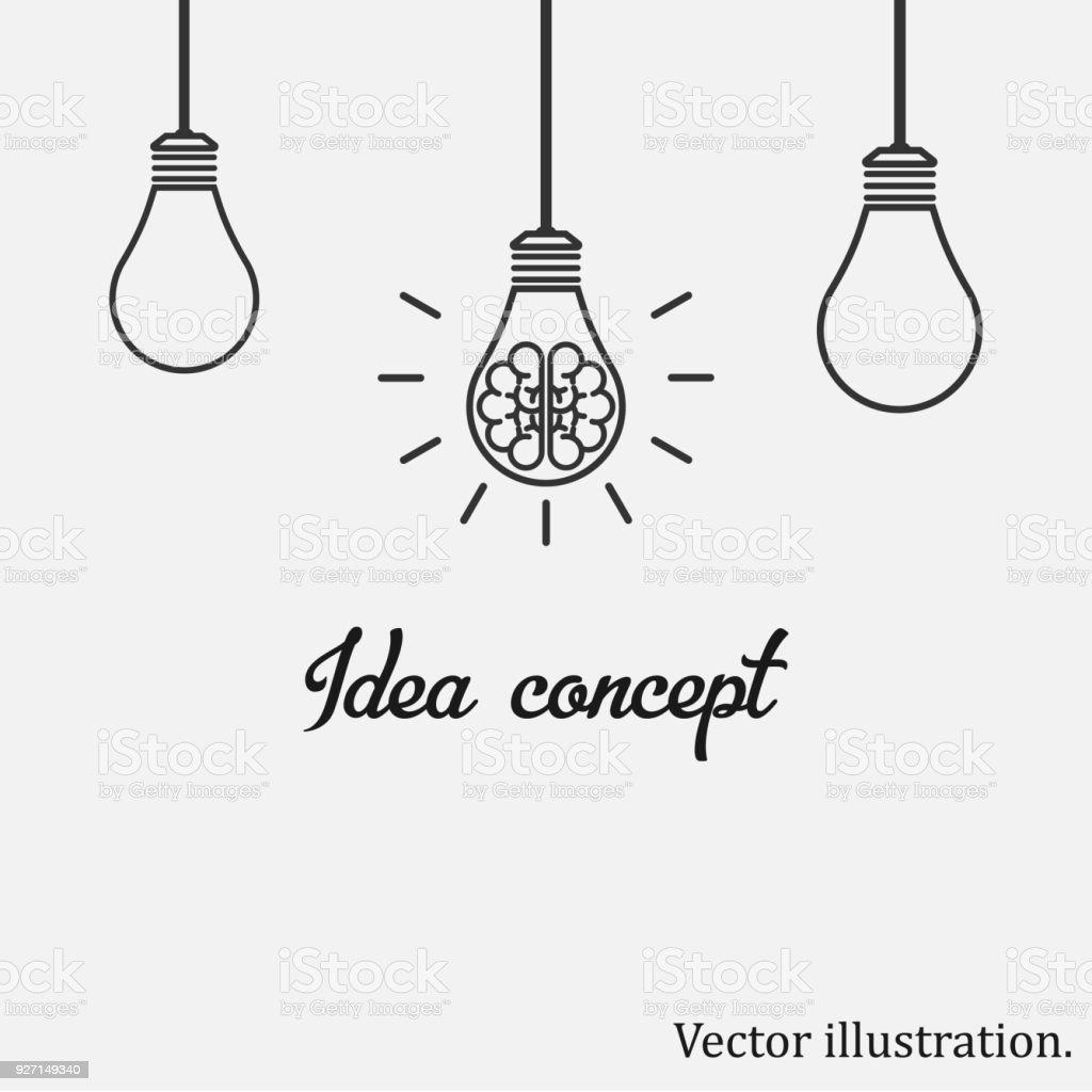 Idea Concept. Vector illustration. vector art illustration