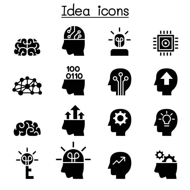 Idea & Creative icon set Idea & Creative icon set attitude stock illustrations