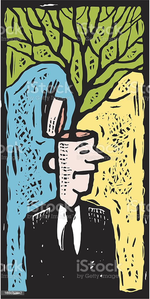 Idea Growth vector art illustration