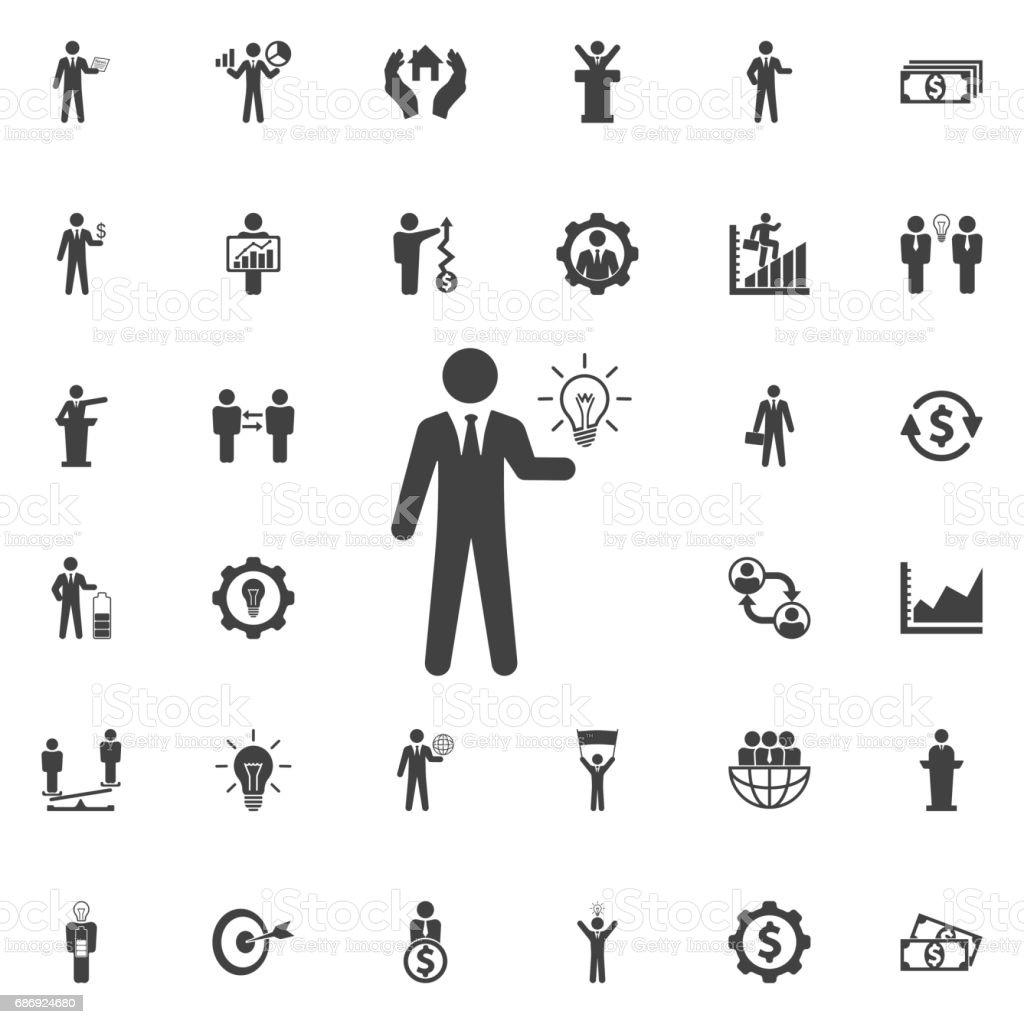 Idea icon. vector art illustration