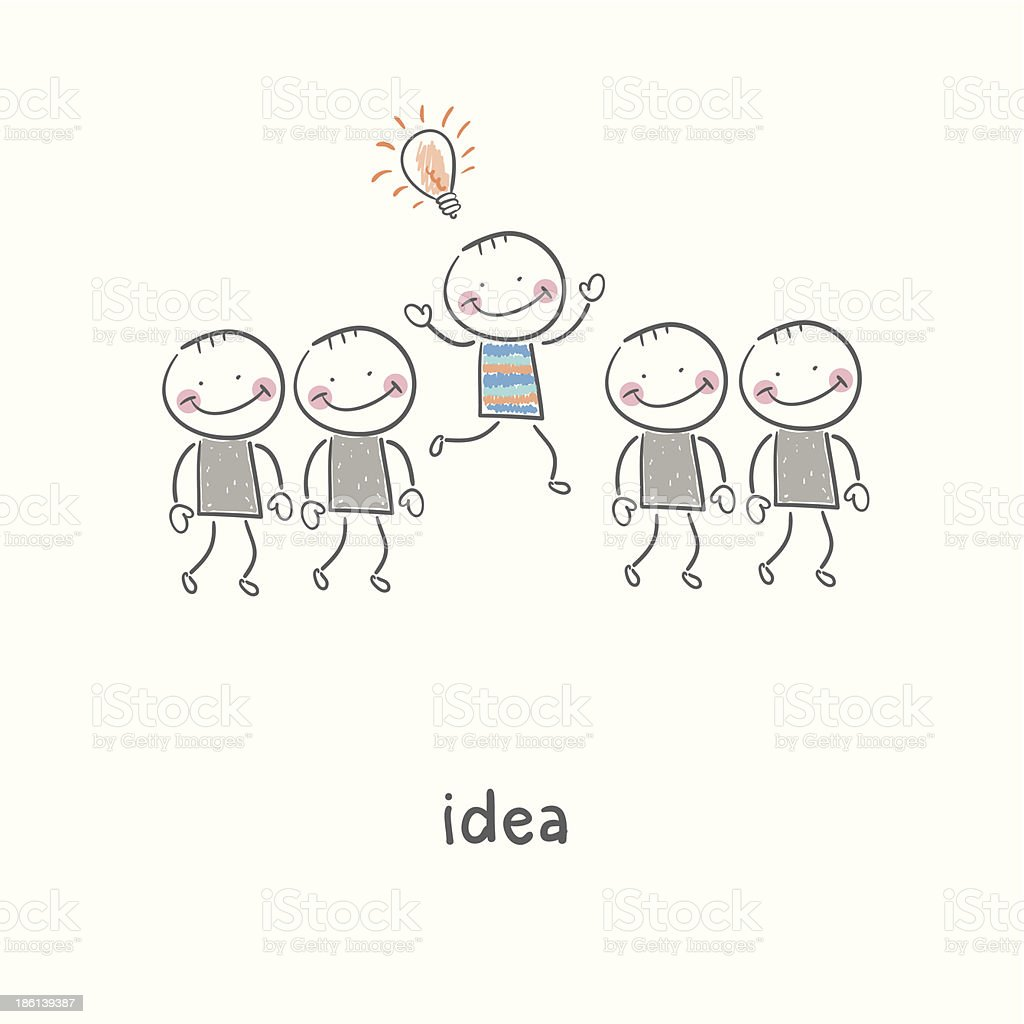 Idea. Illustration. royalty-free idea illustration stock vector art & more images of abstract