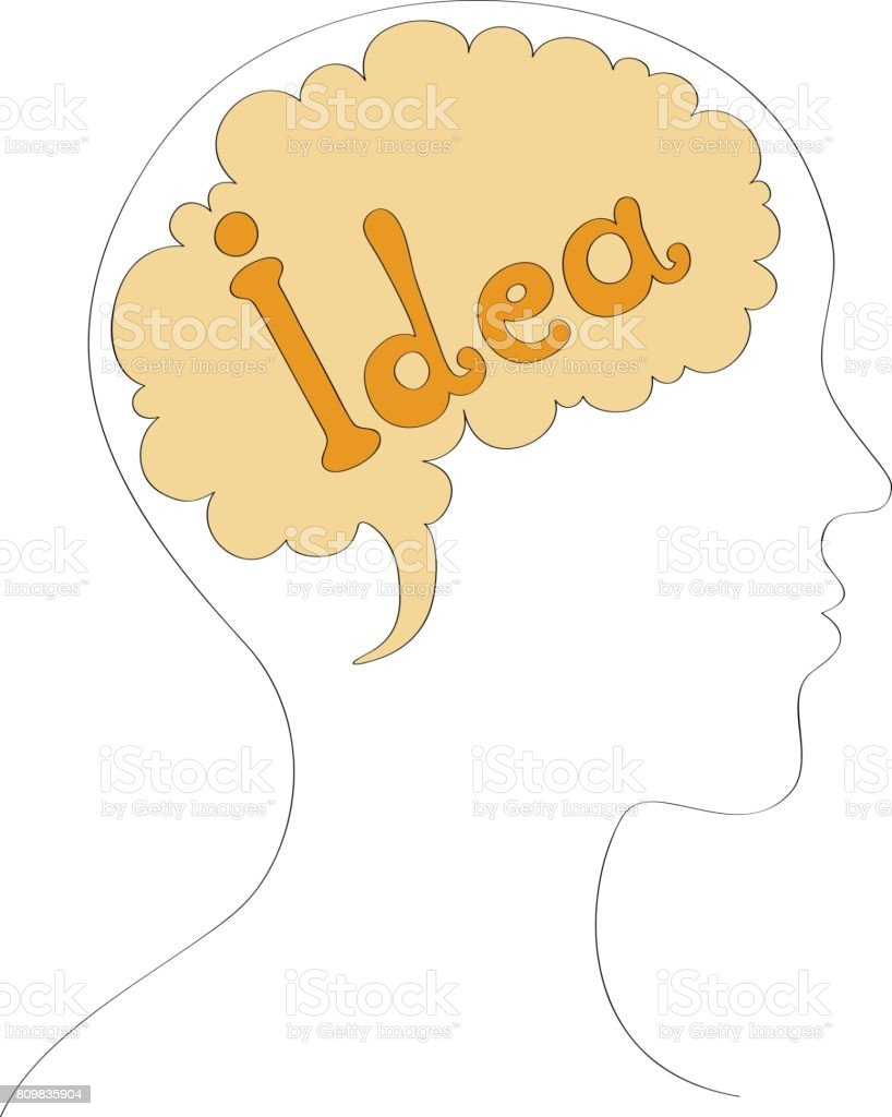 Idea in mind vector background