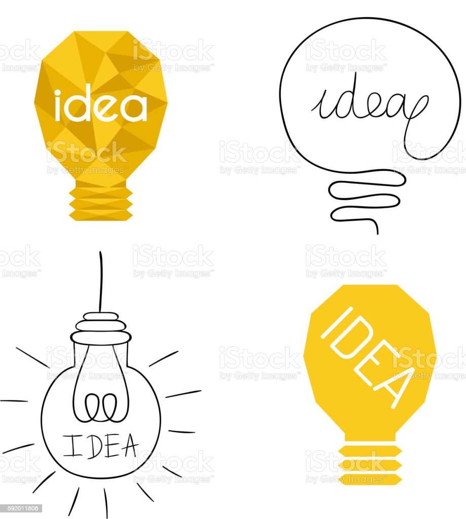 Idea Lamp Vector Icon Royalty Free Stock Art Amp