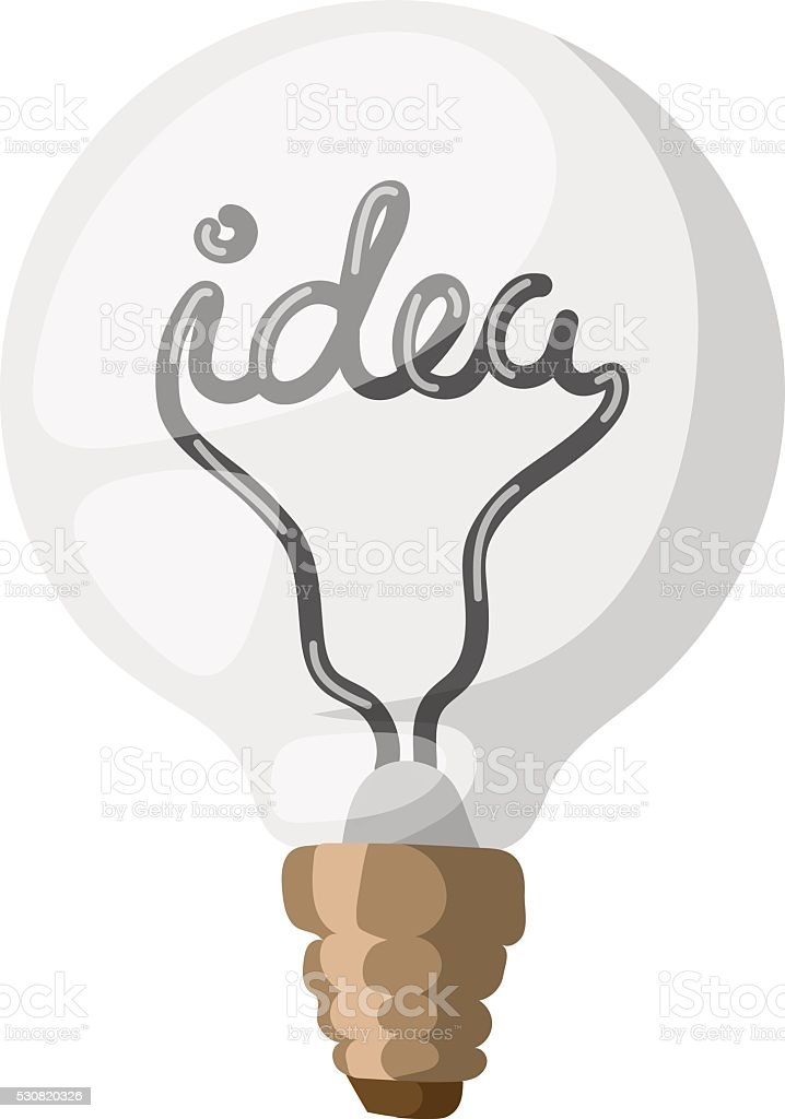 Idea Lamp Vector Illustration Royalty Free Stock Art Amp