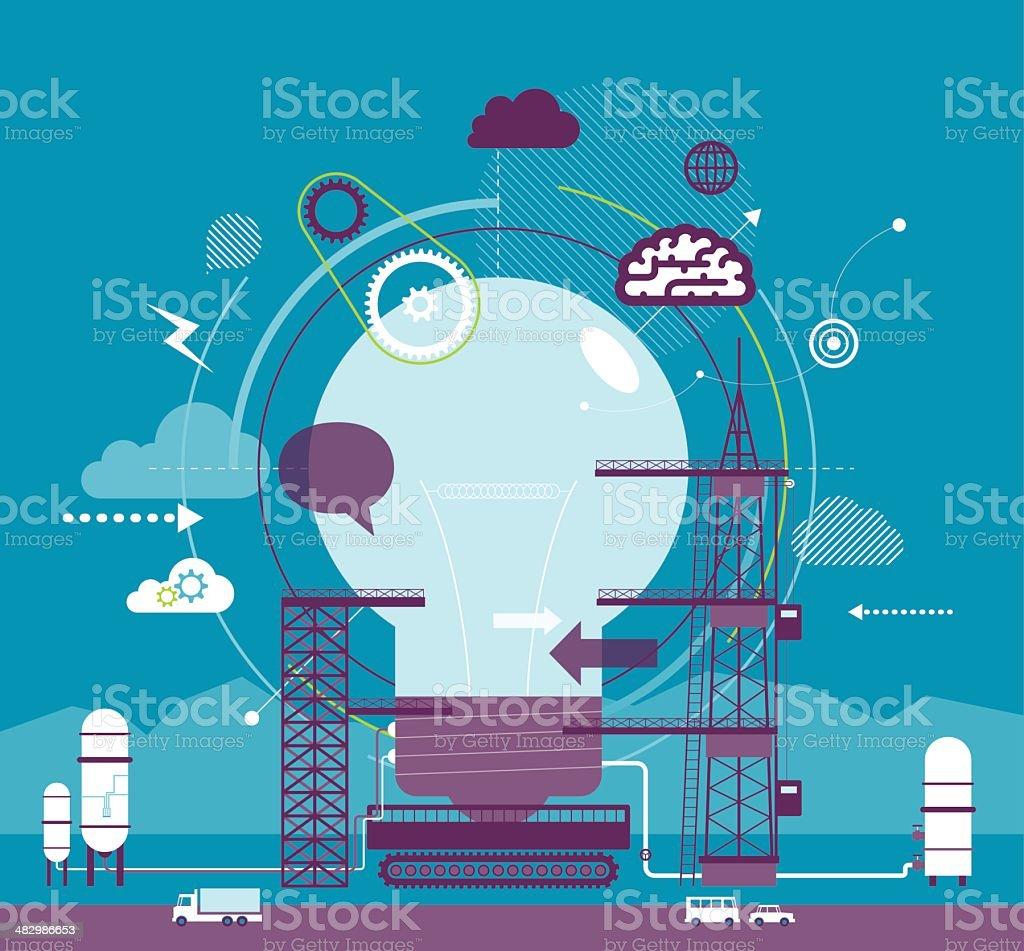 Idea Launch vector art illustration